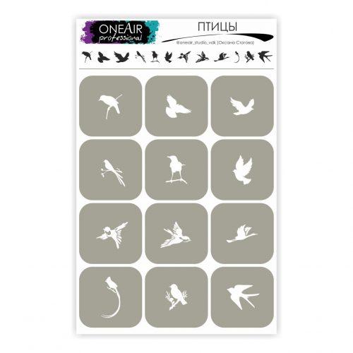 Szablon OneAir 11 Ptaki - Птицы.